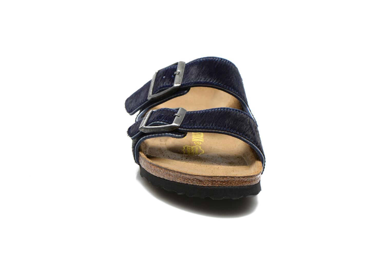 Mules et sabots Birkenstock Arizona Textile W Bleu vue portées chaussures