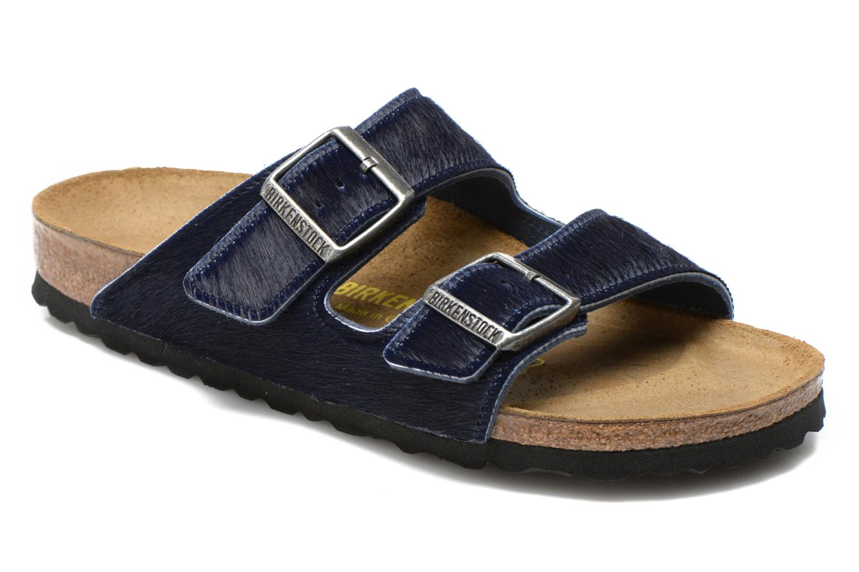 Mules et sabots Birkenstock Arizona Textile W Bleu vue détail/paire