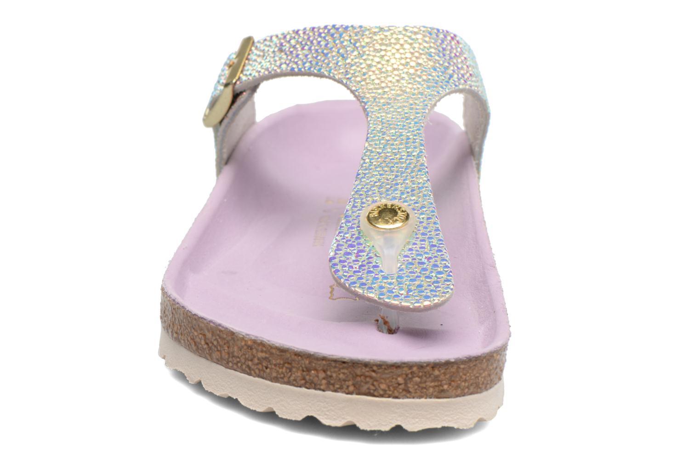 Sandals Birkenstock Gizeh Cuir W Grey model view