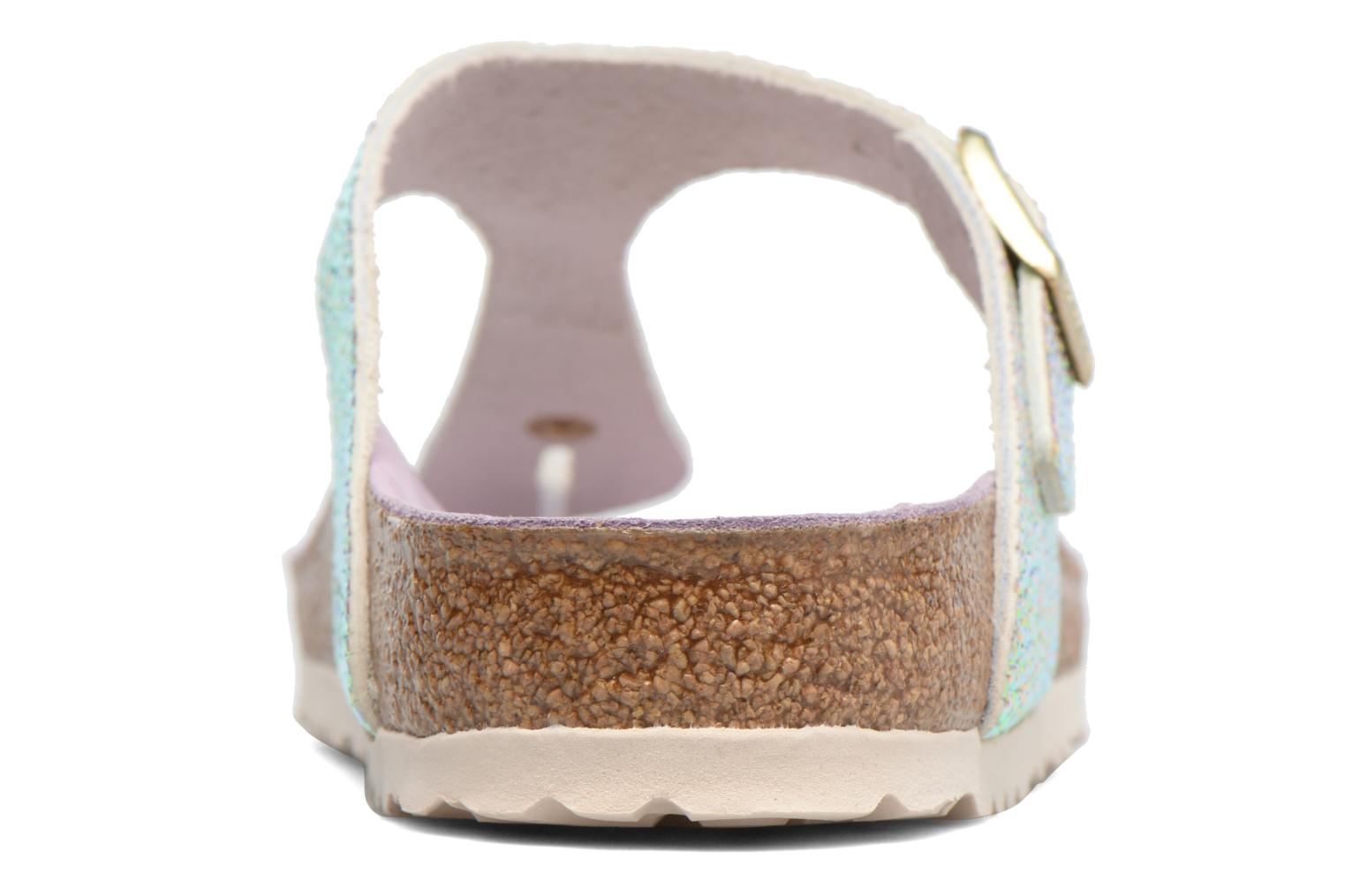 Sandals Birkenstock Gizeh Cuir W Grey view from the right