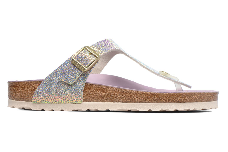 Sandals Birkenstock Gizeh Cuir W Grey back view