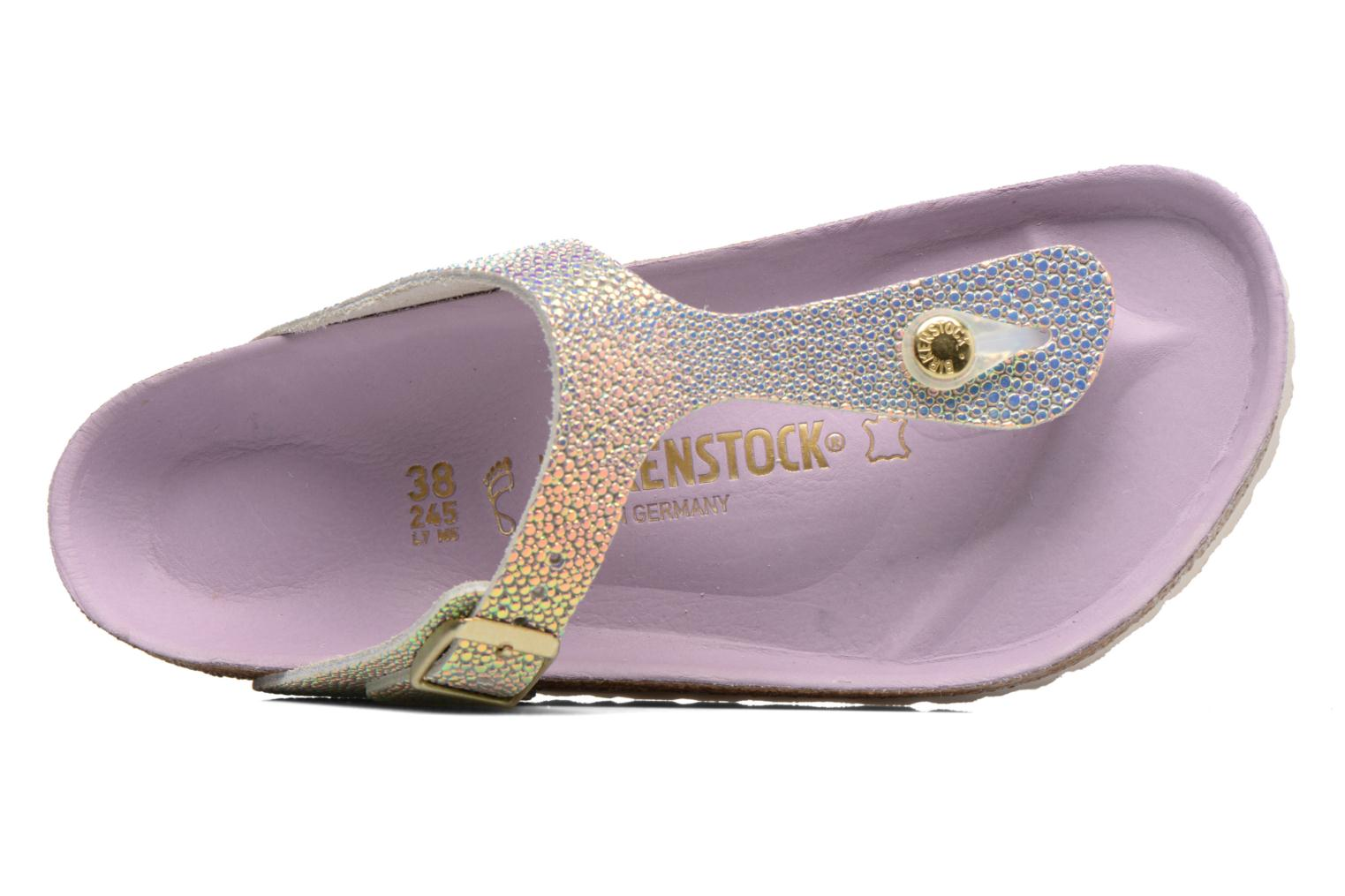 Sandals Birkenstock Gizeh Cuir W Grey view from the left