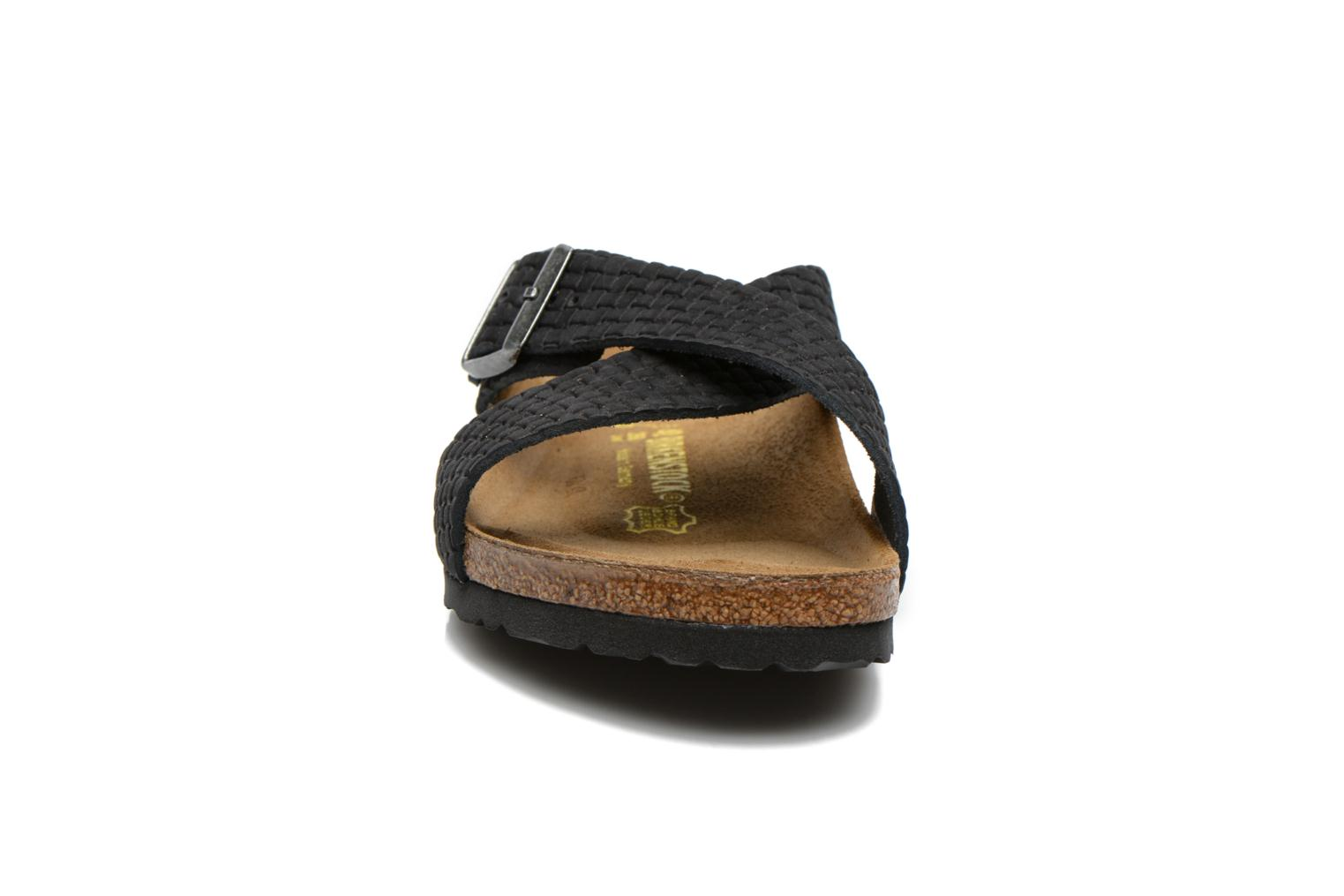 Tunis Nubuck M Woven Embossed Black
