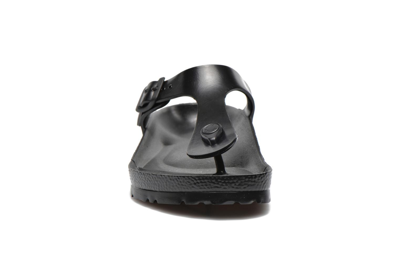 Zehensandalen Birkenstock Gizeh EVA M schwarz schuhe getragen