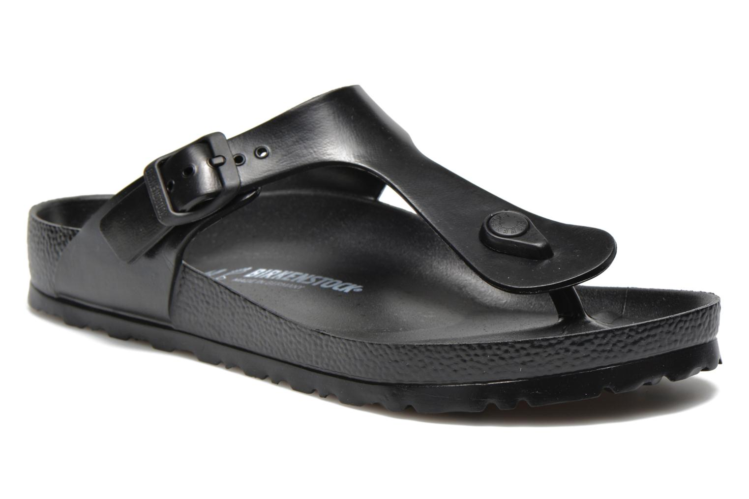 Flip flops Birkenstock Gizeh EVA M Black detailed view/ Pair view