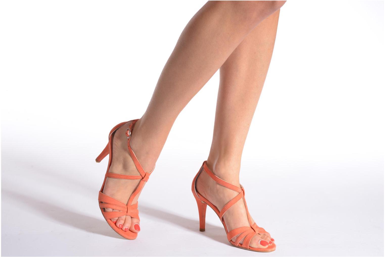 Sandales et nu-pieds Georgia Rose Epurée Or et bronze vue bas / vue portée sac