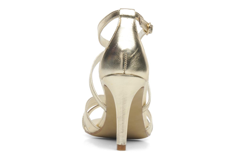 Sandales et nu-pieds Georgia Rose Epurée Or et bronze vue droite