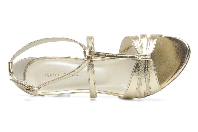 Sandales et nu-pieds Georgia Rose Epurée Or et bronze vue gauche