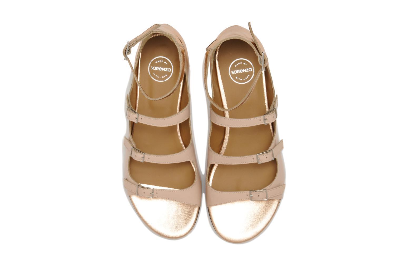 Sandalen Made by SARENZA Chamallow #4 beige schuhe getragen