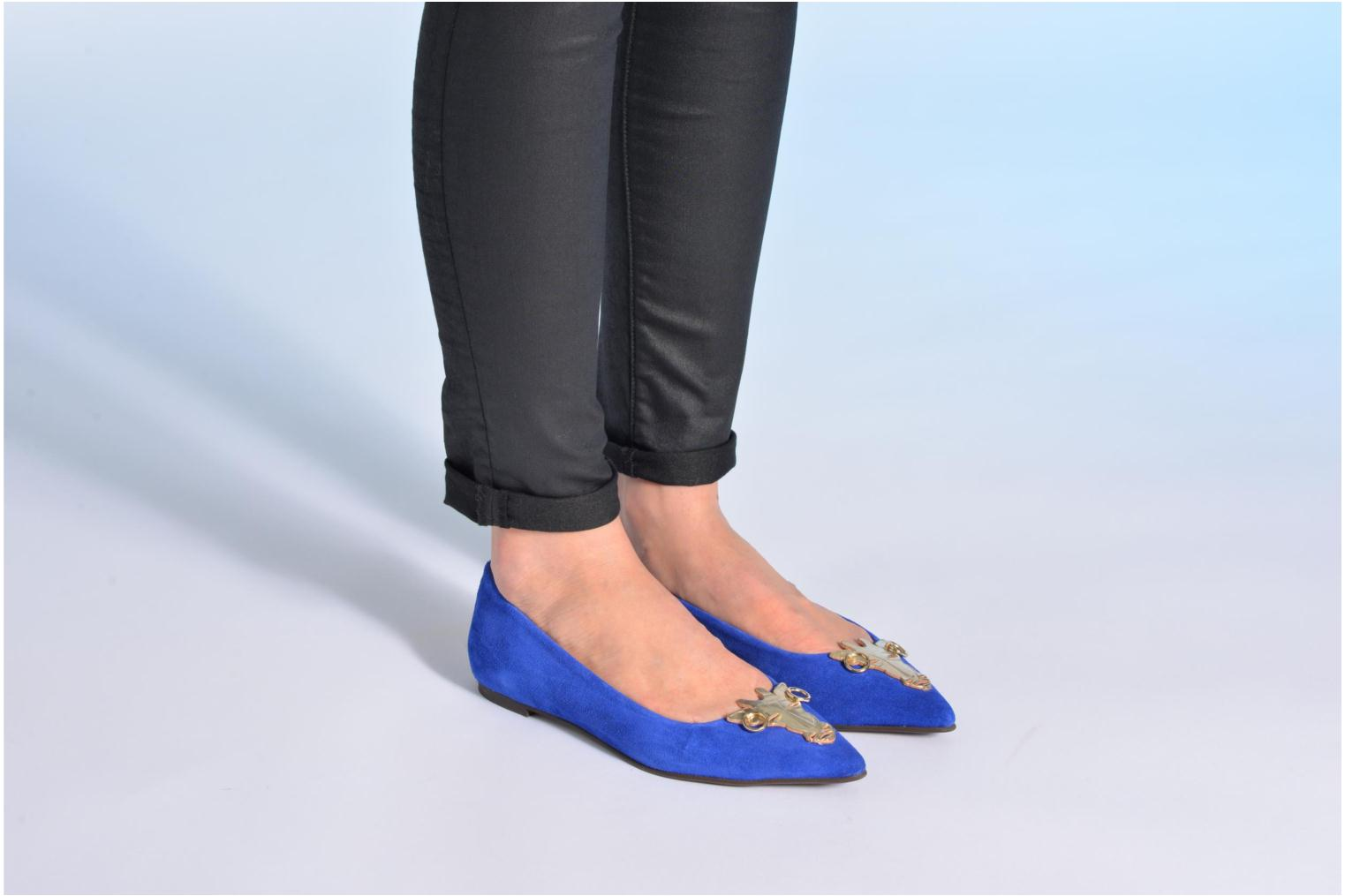 Ballet pumps Made by SARENZA Cape Town #10 Blue view from underneath / model view