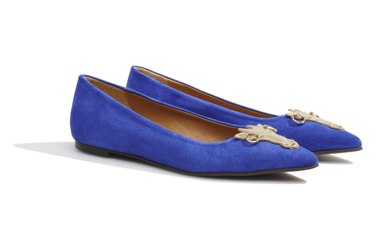 Ballet pumps Made by SARENZA Cape Town #10 Blue back view