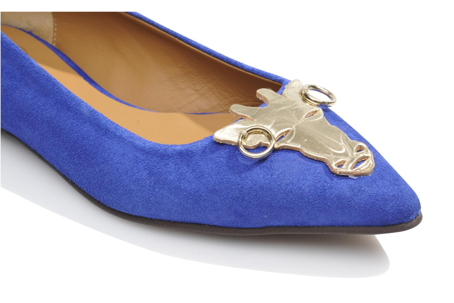 Ballet pumps Made by SARENZA Cape Town #10 Blue view from above