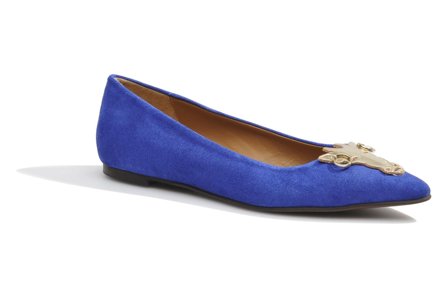 Ballet pumps Made by SARENZA Cape Town #10 Blue detailed view/ Pair view