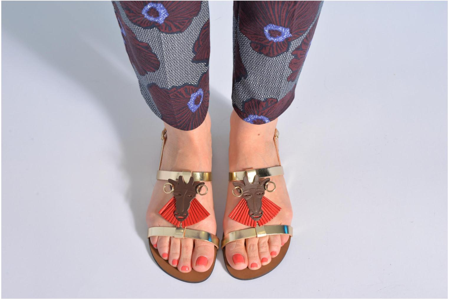 Sandals Made by SARENZA Nairobi #5 Multicolor view from underneath / model view