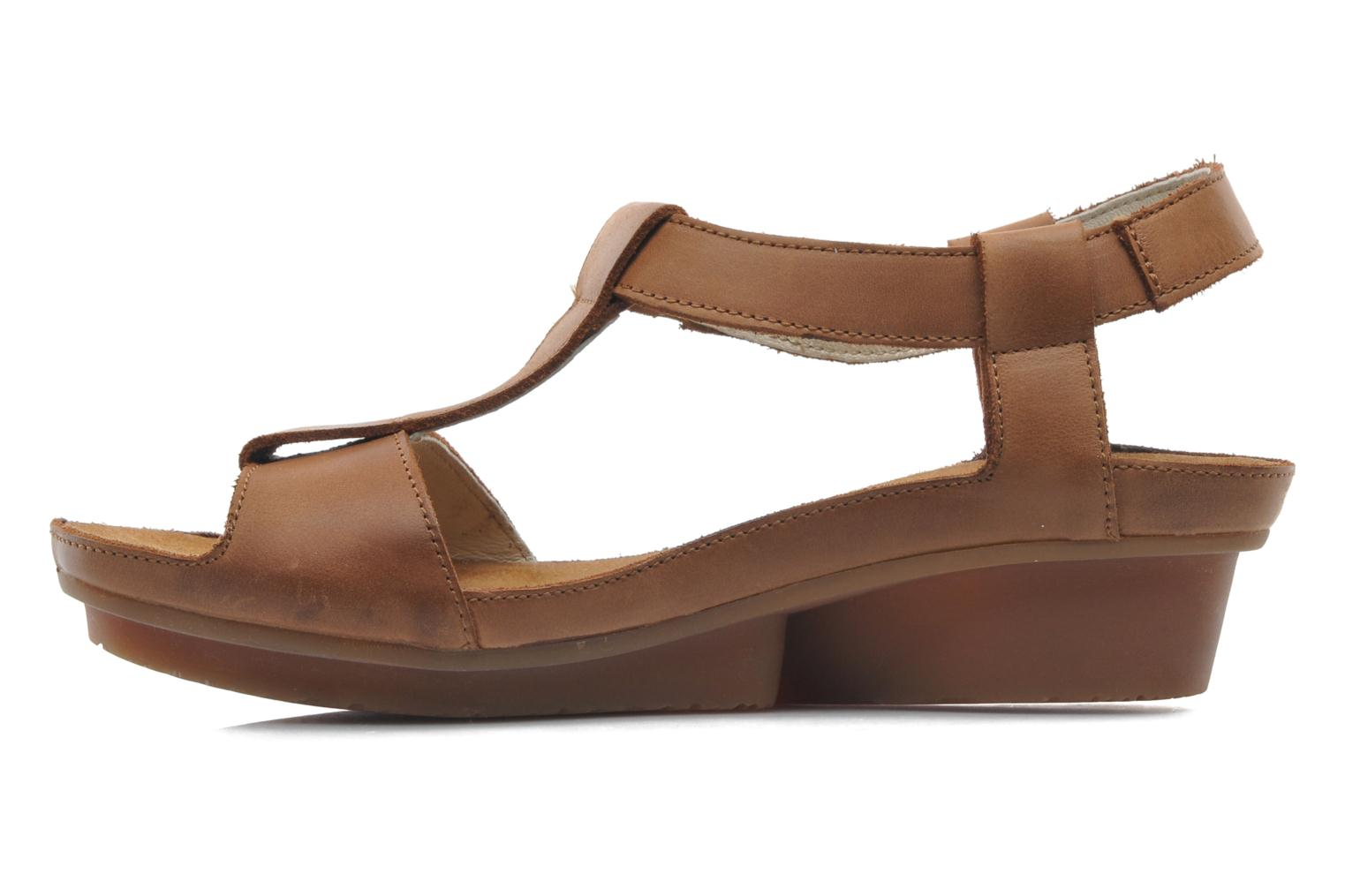 Sandals El Naturalista Code ND21 Brown front view