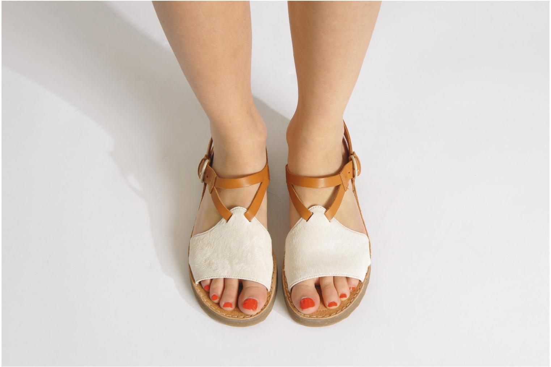 Sandales et nu-pieds Camper PimPom 22519 Marron vue bas / vue portée sac