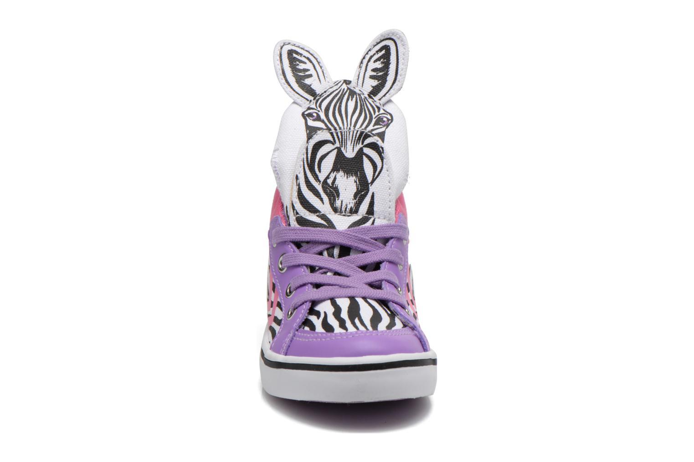 Baskets Feiyue Delta Mid Animal Blanc vue portées chaussures