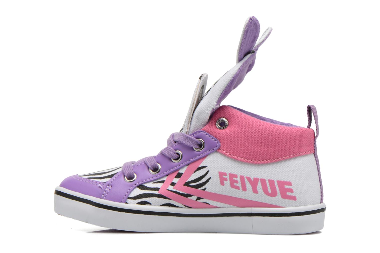 Sneakers Feiyue Delta Mid Animal Wit voorkant