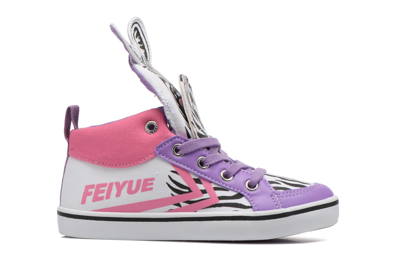 Sneakers Feiyue Delta Mid Animal Wit achterkant