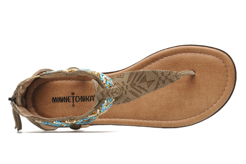 Sandales et nu-pieds Minnetonka Antigua Marron vue gauche