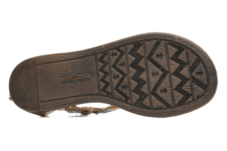 Sandales et nu-pieds Minnetonka Antigua Marron vue haut
