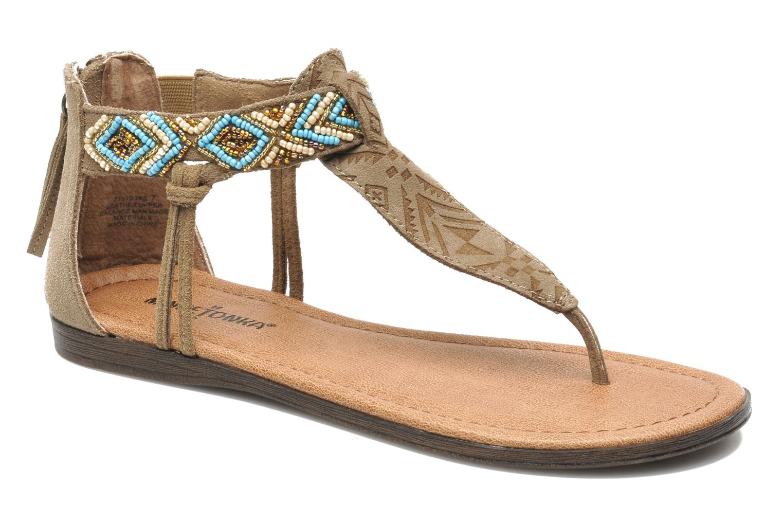 Sandales et nu-pieds Minnetonka Antigua Marron vue détail/paire