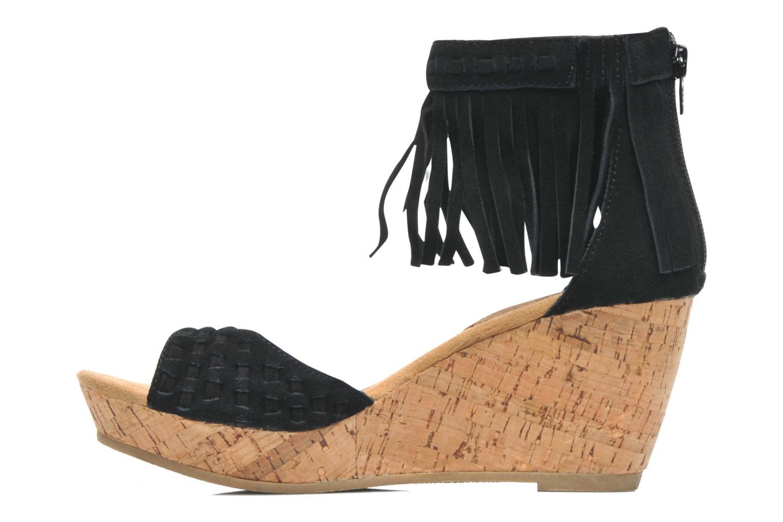 Sandales et nu-pieds Minnetonka Isabel Noir vue face