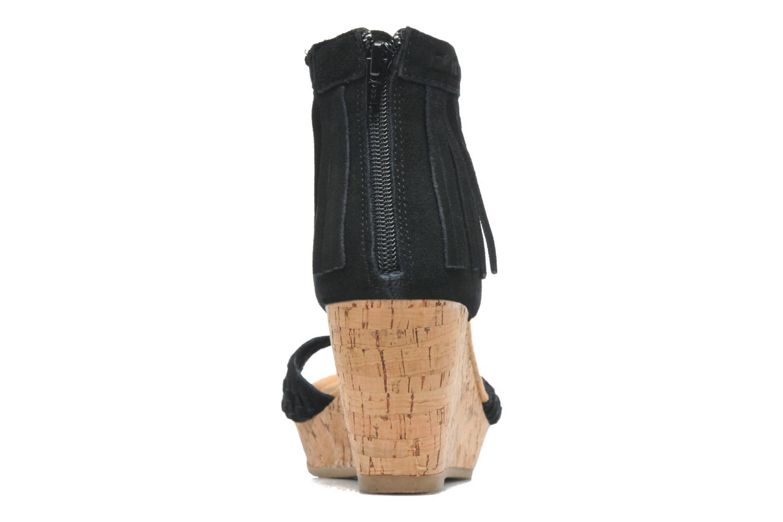 Sandales et nu-pieds Minnetonka Isabel Noir vue droite