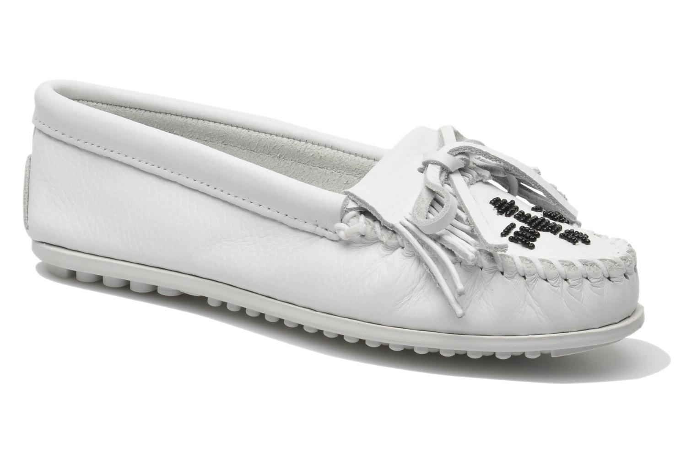Loafers Minnetonka Original Thunderbird Hvid detaljeret billede af skoene