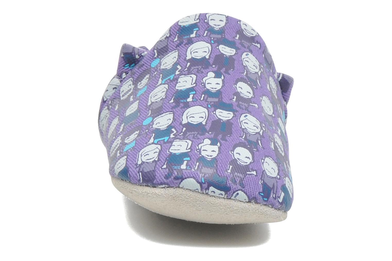 Pantofole Poco Nido PEOPLE Viola modello indossato