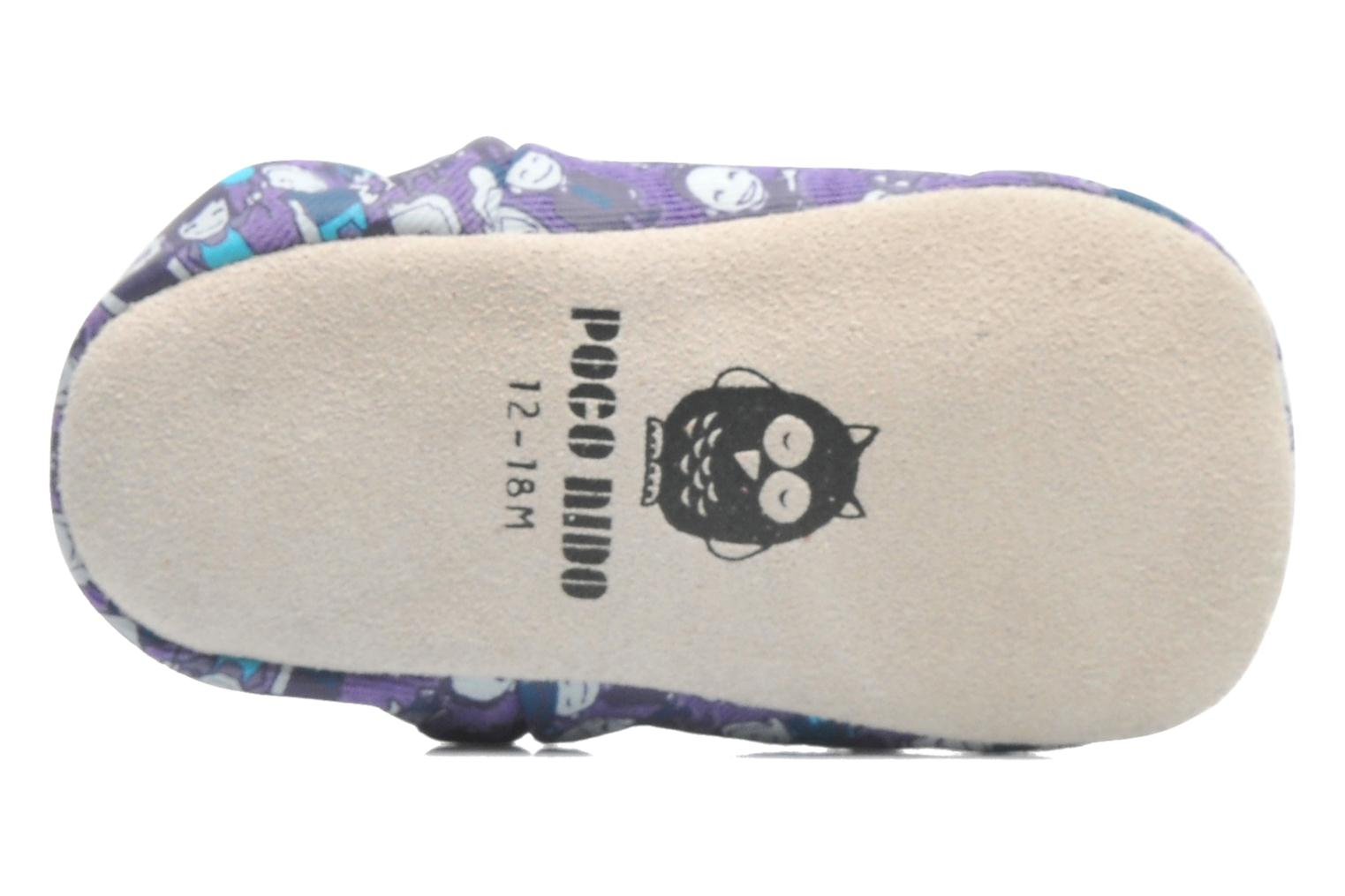 Slippers Poco Nido PEOPLE Purple view from above