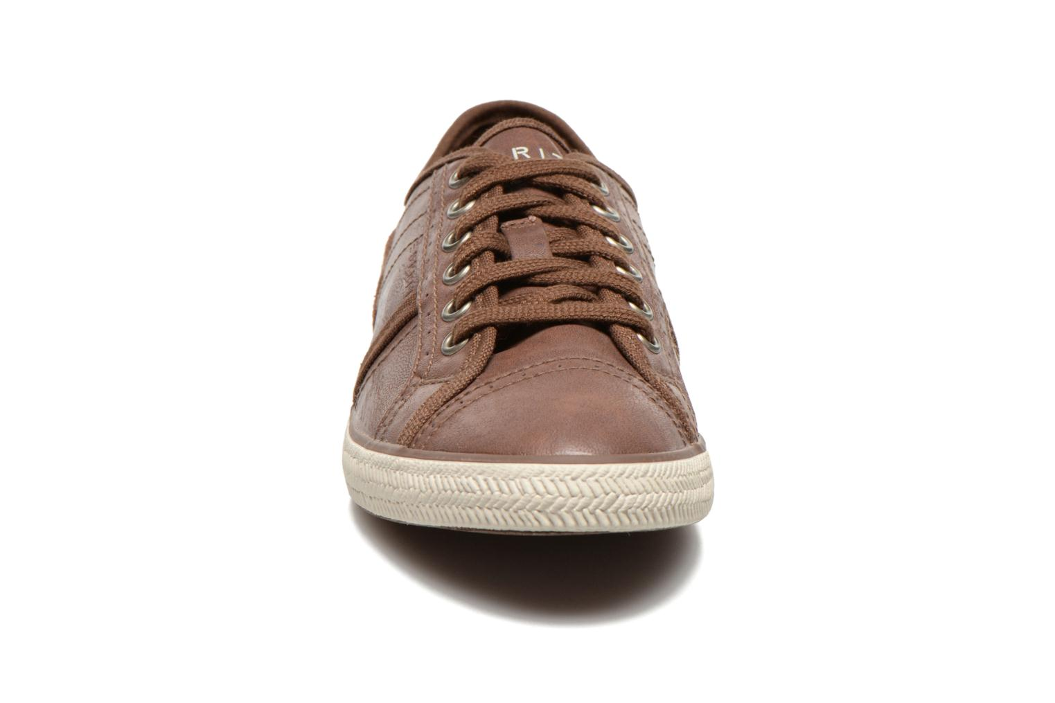 Megan Lace Up 004 Brown 210
