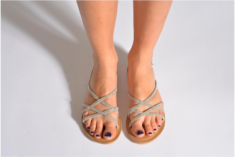 Sandalen Esprit Sun CC Sandal 014 weiß ansicht von unten / tasche getragen