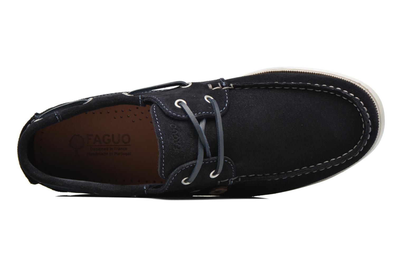 Chaussures à lacets Faguo Larch Bleu vue gauche
