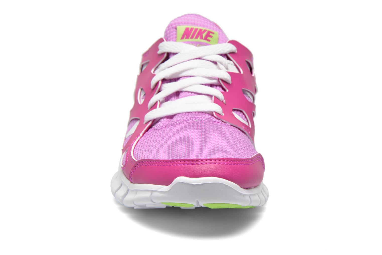 Sneaker Nike NIKE FREE RUN 2 (GS) lila schuhe getragen