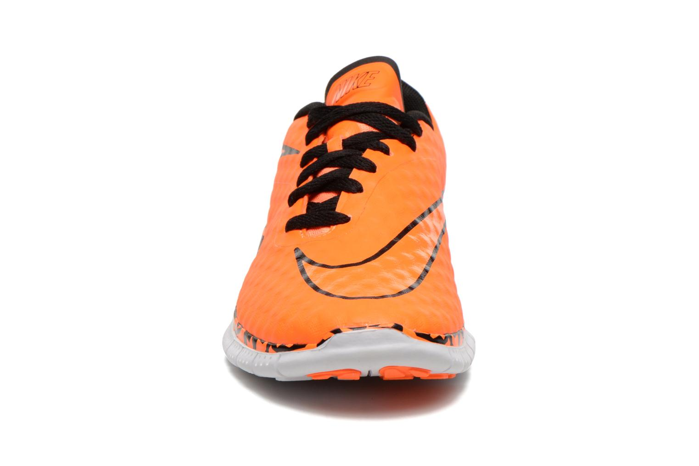 Sneaker Nike NIKE FREE HYPERVENOM (GS) orange schuhe getragen