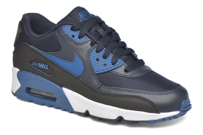 Baskets Nike NIKE AIR MAX 90 MESH (GS) Bleu vue détail/paire