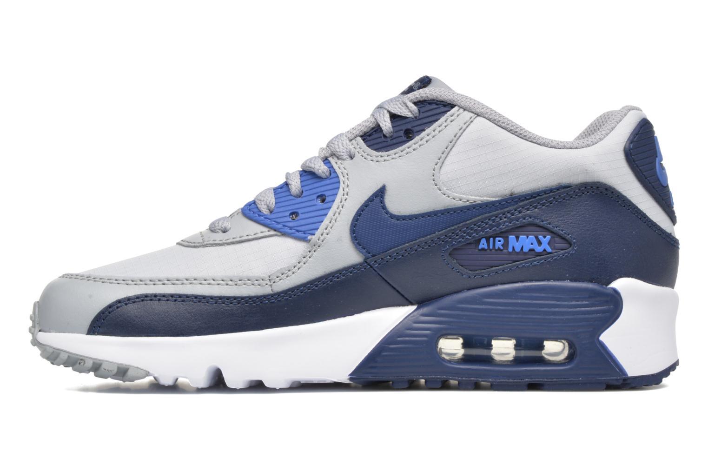 Baskets Nike NIKE AIR MAX 90 MESH (GS) Bleu vue face