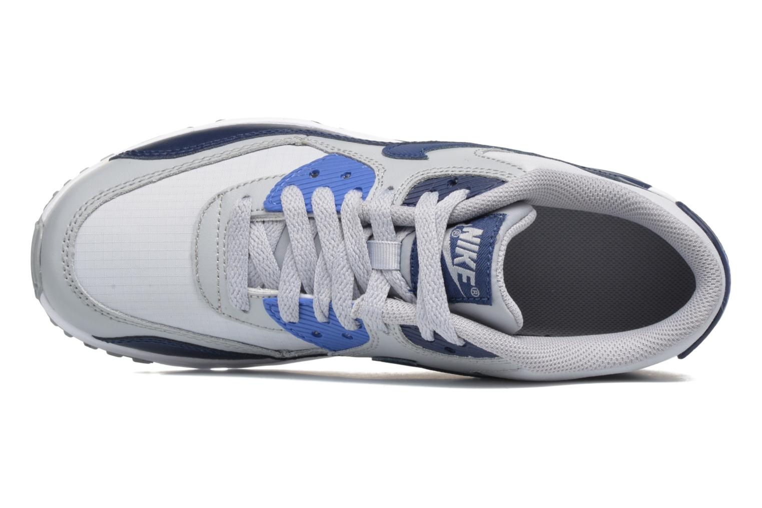 Trainers Nike NIKE AIR MAX 90 MESH (GS) Blue view from the left