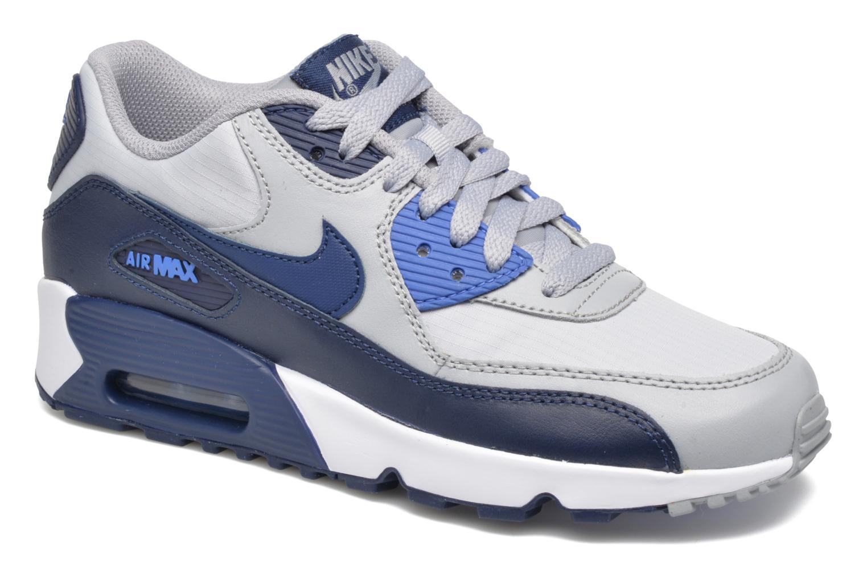Trainers Nike NIKE AIR MAX 90 MESH (GS) Blue detailed view/ Pair view
