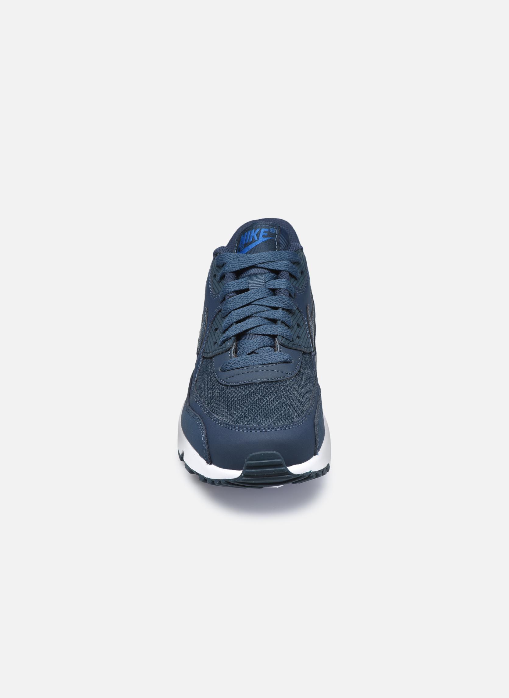 Sneakers Nike NIKE AIR MAX 90 MESH (GS) Azzurro modello indossato