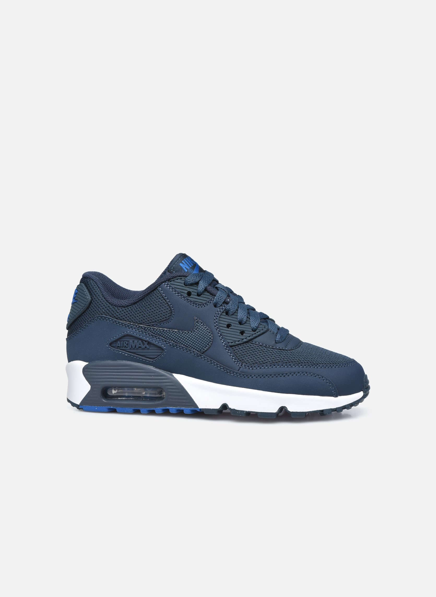 Trainers Nike NIKE AIR MAX 90 MESH (GS) Blue back view