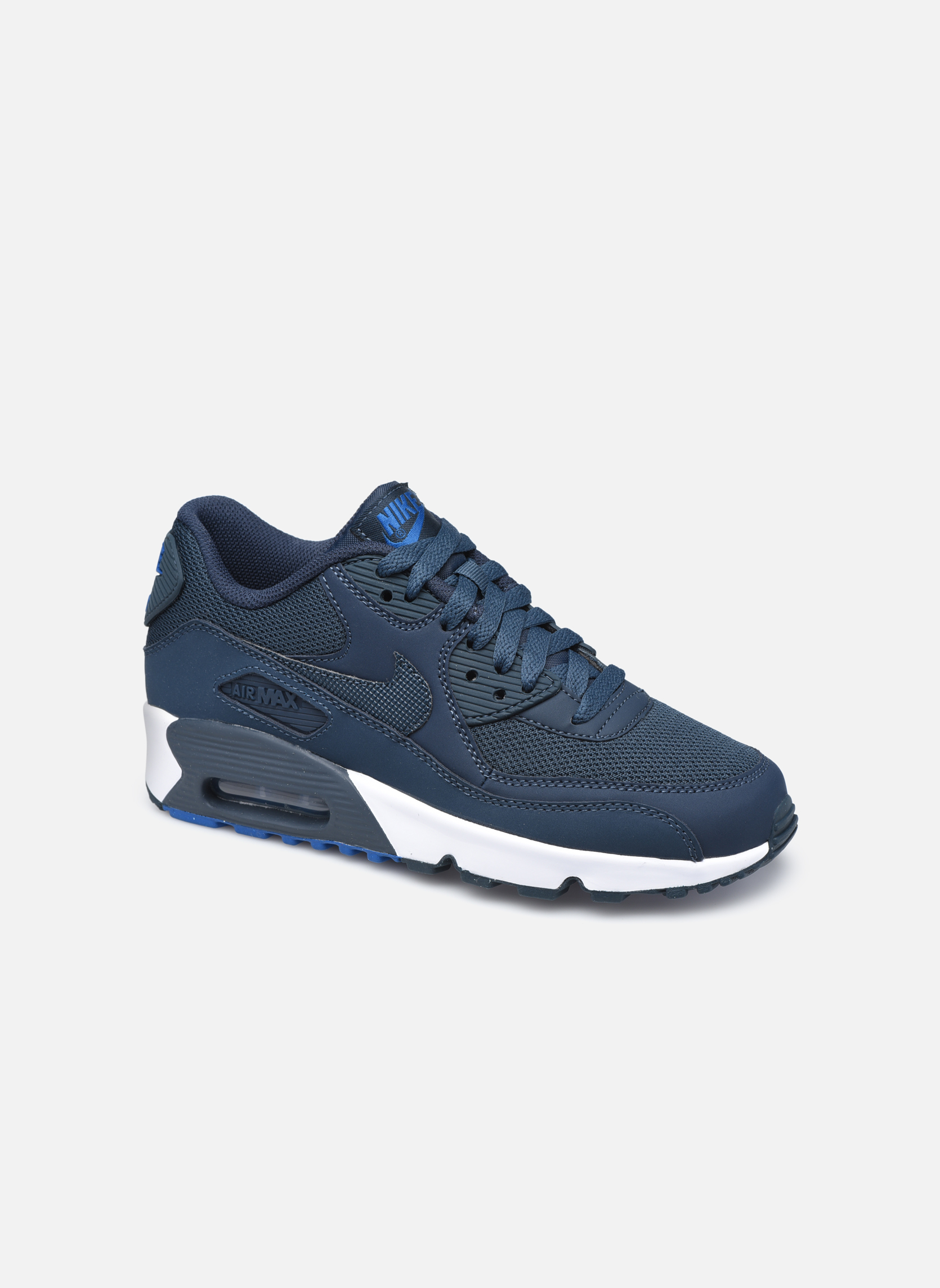 Deportivas Nike NIKE AIR MAX 90 MESH (GS) Azul vista de detalle / par