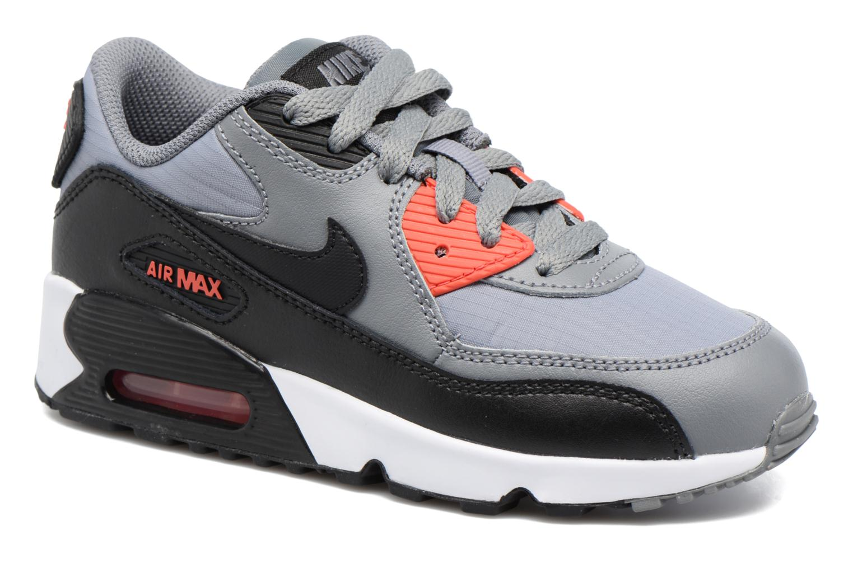 NIKE AIR MAX 90 MESH (PS) Cool Grey/Black-Max Orange-White