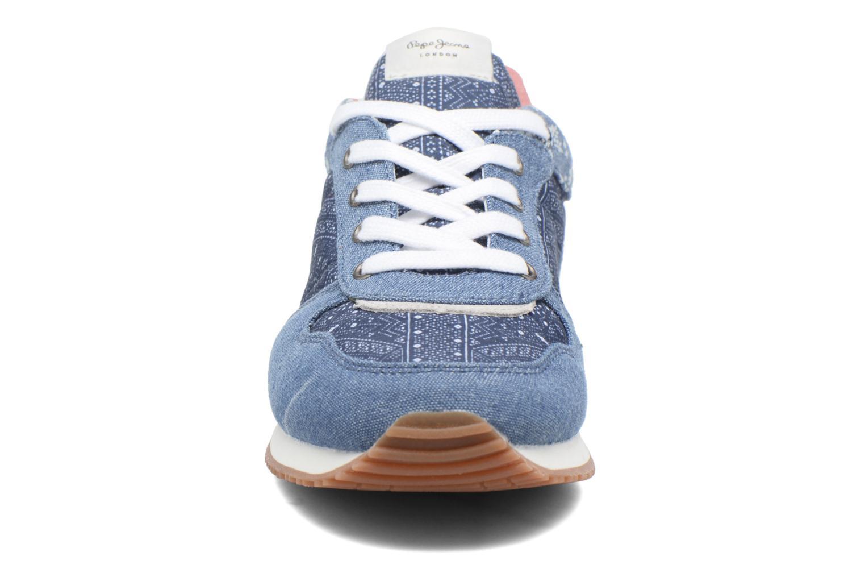 Sneaker Pepe jeans Sydney blau schuhe getragen
