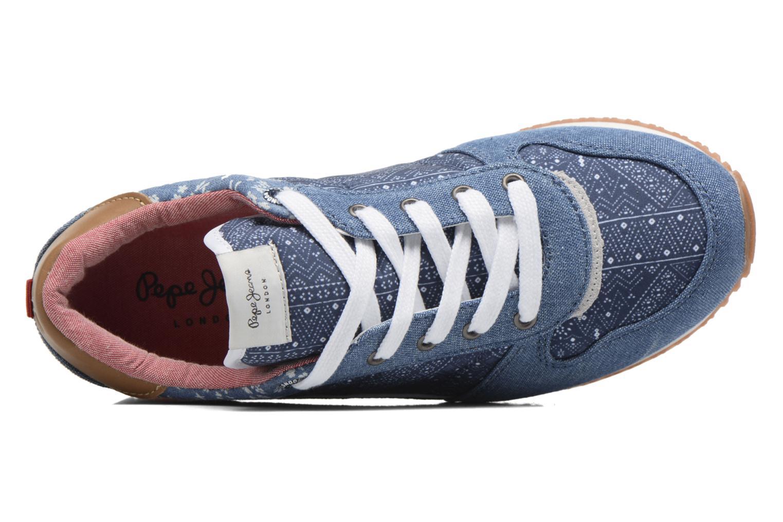 Sneaker Pepe jeans Sydney blau ansicht von links