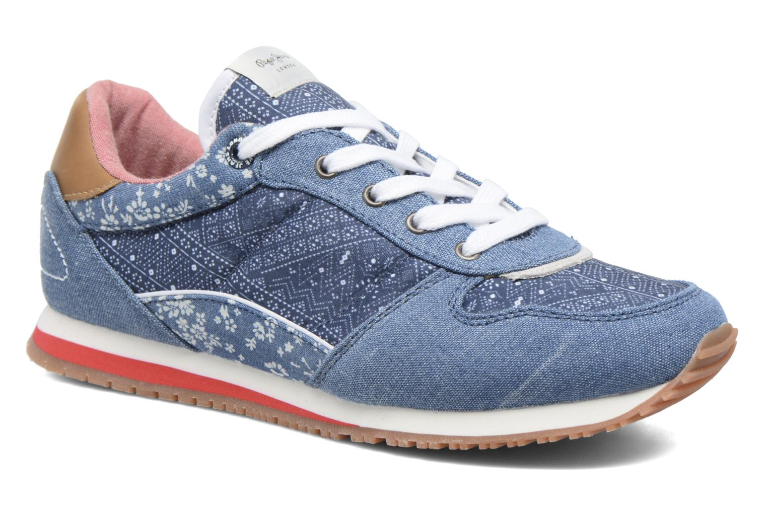 Trainers Pepe jeans Sydney Blue detailed view/ Pair view