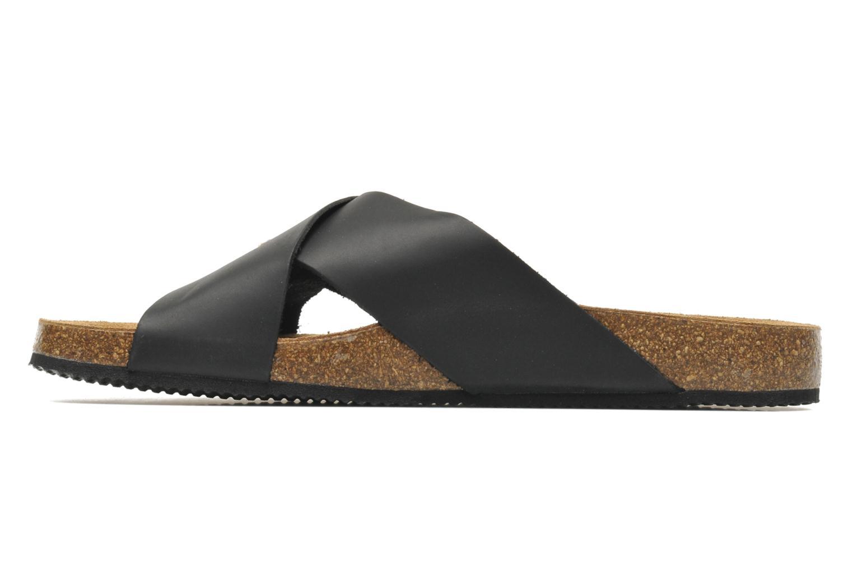 Sandalen Rondinaud Trèfle schwarz ansicht von vorne