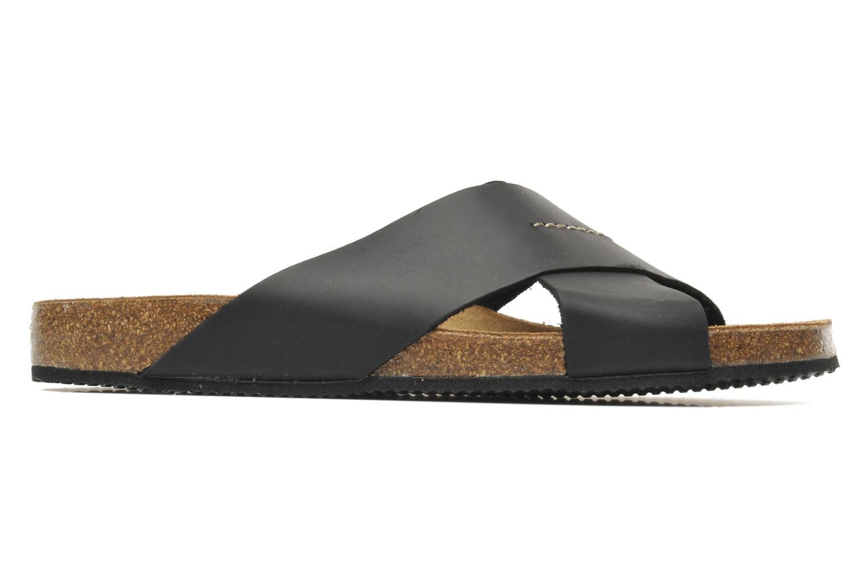 Sandalen Rondinaud Trèfle schwarz ansicht von hinten