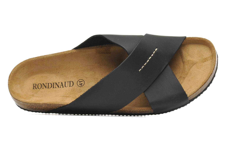 Sandalen Rondinaud Trèfle schwarz ansicht von links